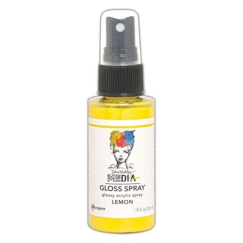 Dina Wakley - MEdia Gloss Spray - Lemon