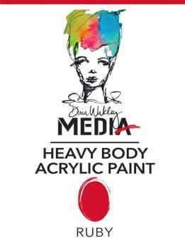 Dina Wakley Media - Heavy Body Acrylic - Ruby