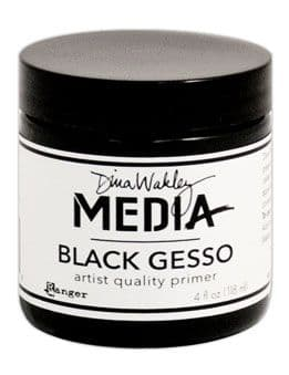 Dina Wakley Media - Mediums Gesso Black