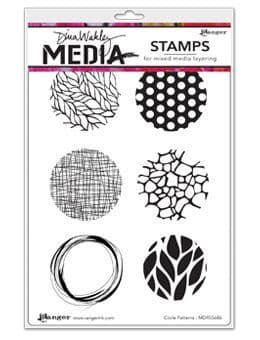 Dina Wakley Media - Rubber Stamp - Circle patterns