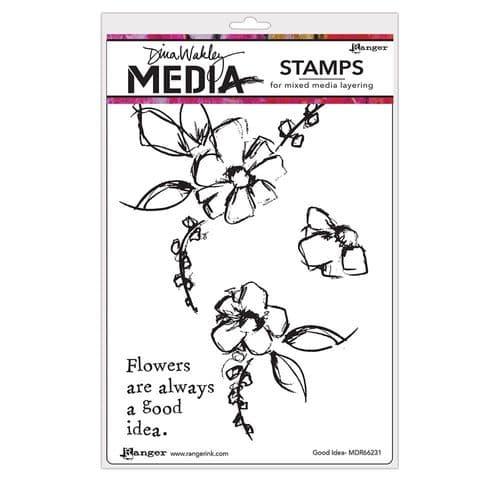 Dina Wakley Media  - Rubber Stamp - Good Idea