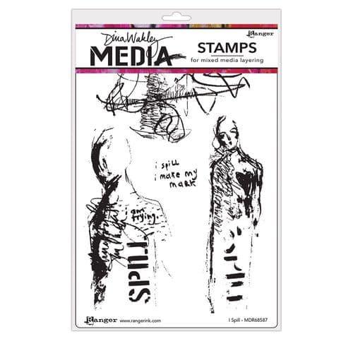Dina Wakley Media  - Rubber Stamp - I Spill