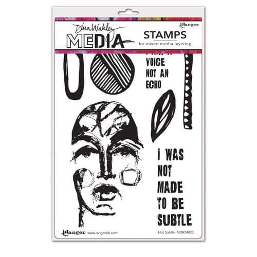Dina Wakley Media  - Rubber Stamp - Not Subtle