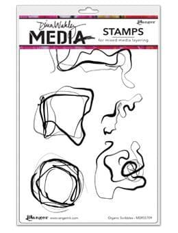Dina Wakley Media - Rubber Stamp - Organic Scribbles
