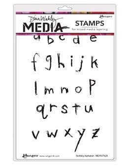 Dina Wakley Media - Rubber Stamp - Scribbly Alphabet