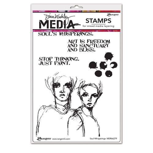 Dina Wakley Media  - Rubber Stamp - Soul Whisperings