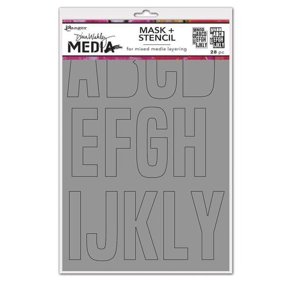 Dina Wakley Media - Stencil - Alpha Masks