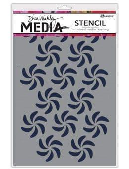 Dina Wakley Media - Stencil - Bendy Pinwheels