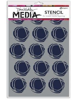 Dina Wakley Media - Stencil - Fractured Circle