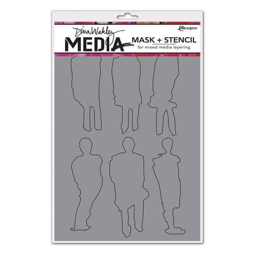 Dina Wakley Media - Stencil - Funky Silhouettes
