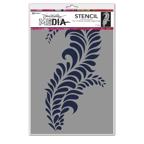 Dina Wakley Media - Stencil - Giant Flourish