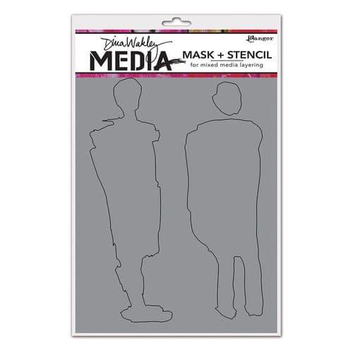 Dina Wakley Media - Stencil - Giant Funky Silhouettes