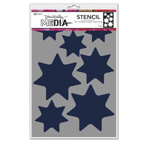 Dina Wakley Media - Stencil - Giant Stars