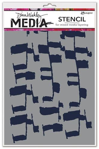 Dina Wakley Media - Stencil - Ladders