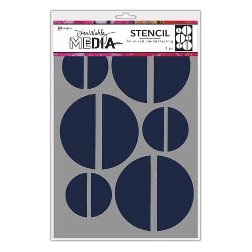 Dina Wakley Media - Stencil - Large Halves