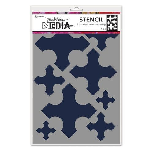 Dina Wakley Media - Stencil - Large Medieval Crosses