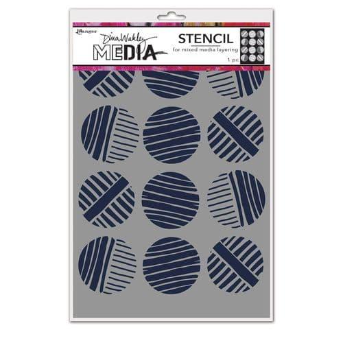 Dina Wakley Media - Stencil - Lined Circles