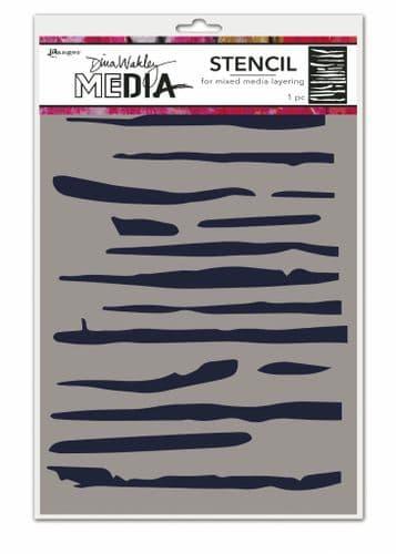 Dina Wakley Media - Stencil - Lines