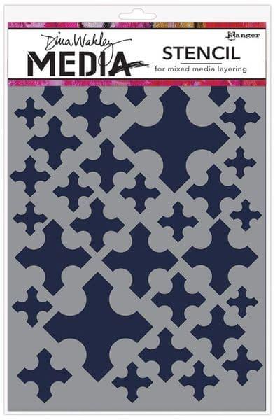 Dina Wakley Media - Stencil - Medieval Crosses
