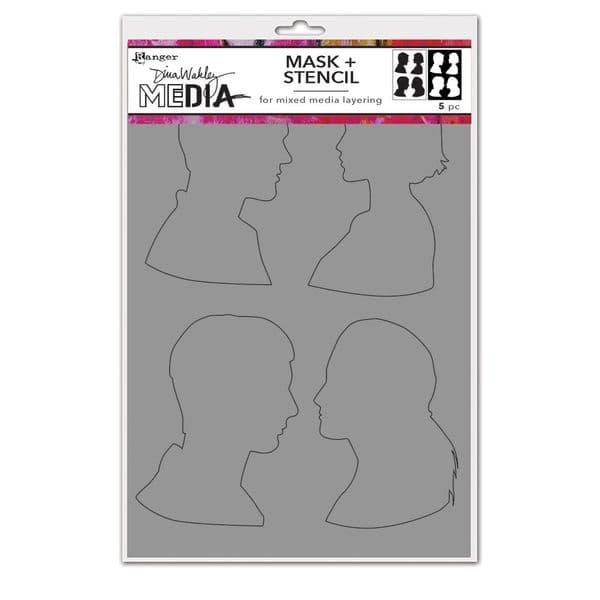 Dina Wakley Media - Stencil - Profile Masks
