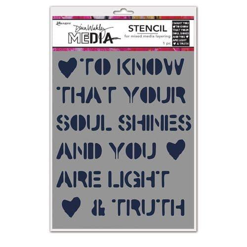 Dina Wakley Media - Stencil - Soul Shines
