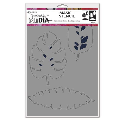 Dina Wakley Media - Stencil - Tropical Masks