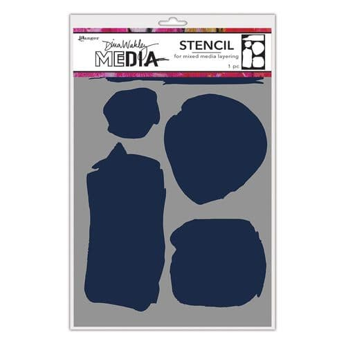 Dina Wakley Media - Stencil - Uneven Shapes