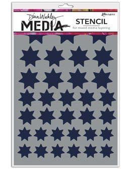 Dina Wakley Media - Stencil - Variegated Stars