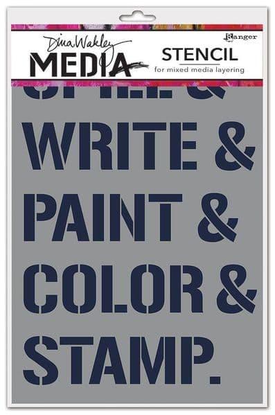 Dina Wakley Media - Stencil - What We Do