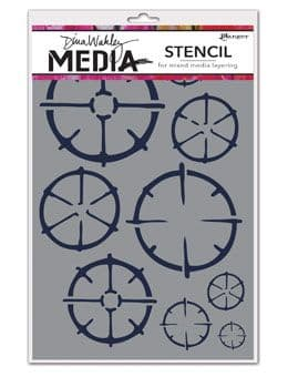 Dina Wakley Media - Stencil - Wheels