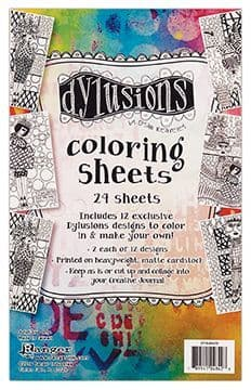 Dylusions - Colouring Sheets #1