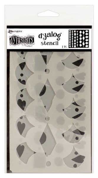 Dylusions - Dyalog - Stencils - Border it Too