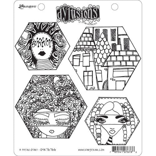 Dylusions - Rubber Stamps - A Head Start