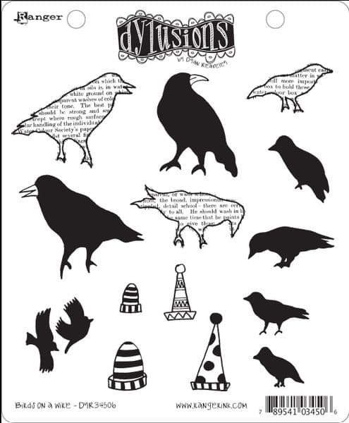 Dylusions - Rubber Stamps - Birds on a Wire