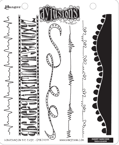 Dylusions - Rubber Stamps - Bordering on the Edge