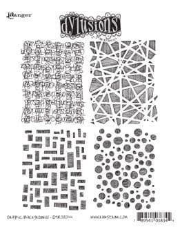 Dylusions - Rubber Stamps - Graphic Backgrounds