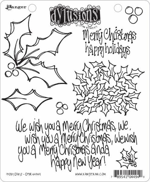 Dylusions - Rubber Stamps - Holly Days