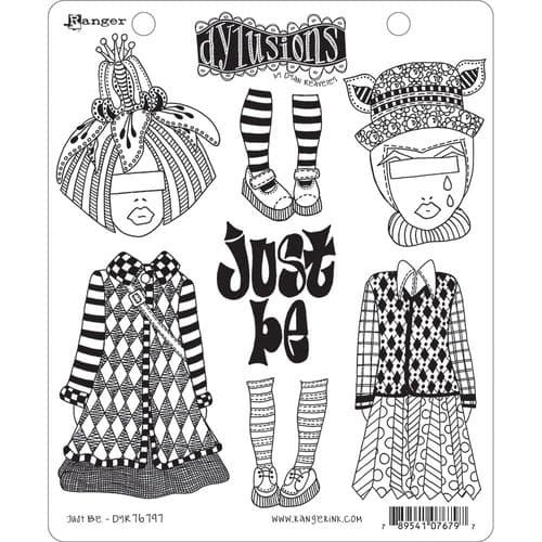 Dylusions - Rubber Stamps - Just Be