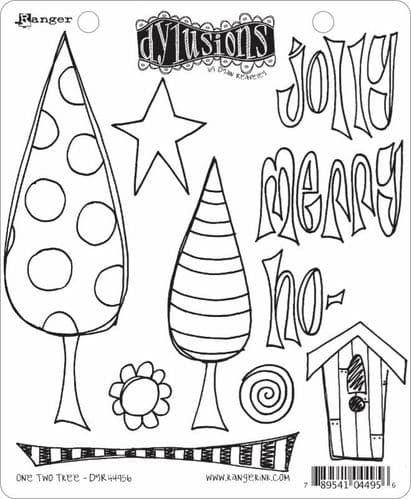 Dylusions - Rubber Stamps - One, Two, Tree