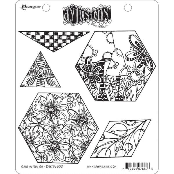 Dylusions - Rubber Stamps - Quilt as you Go