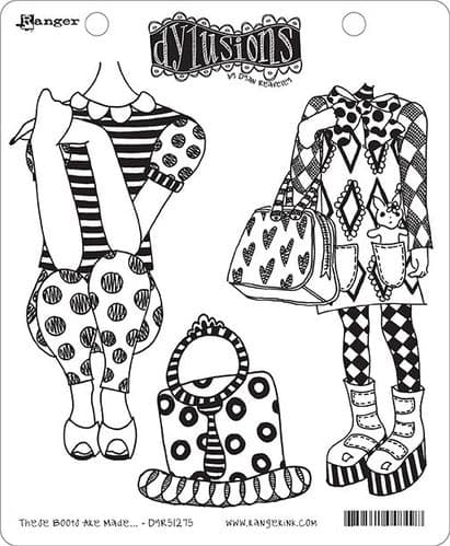 Dylusions - Rubber Stamps - These Boots Are Made.....
