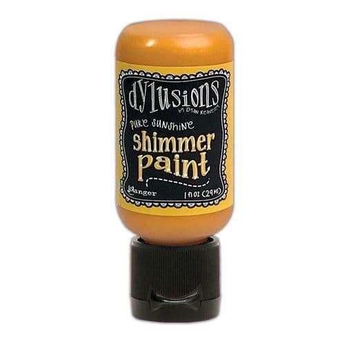 Dylusions - Shimmer Acrylic Paint - 1 oz Bottle - Pure Sunshine