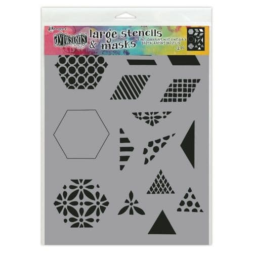 "Dylusions - Stencil - 9x12"" - 1.5"" Quilt"
