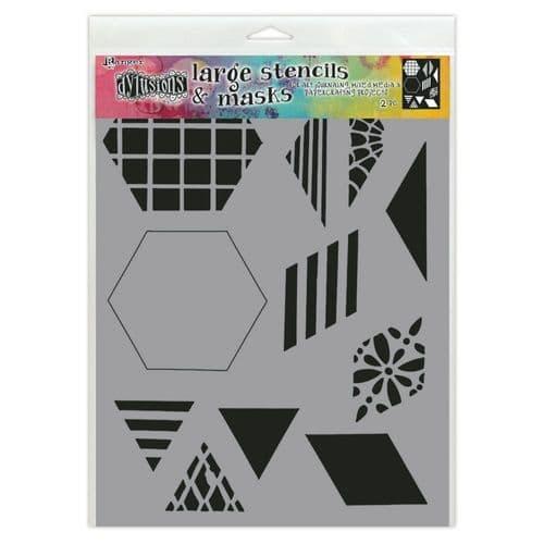 "Dylusions - Stencil - 9x12"" 2"" Quilt"