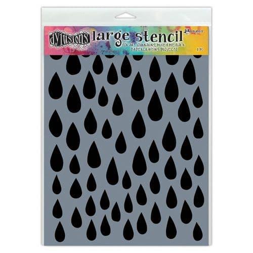"Dylusions - Stencil - 9x12"" Raindrops"