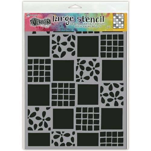 """Dylusions - Stencil - 9x12"""" Square Dance"""