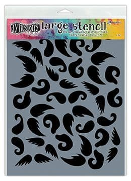"""Dylusions - Stencil - 9x12"""" Stash of Tache"""