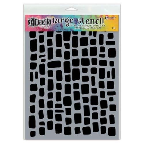 "Dylusions - Stencil - 9x12"" Sugar Lumps"