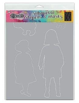 "Dylusions - Stencil Silhouette - 9x12"" Edith"