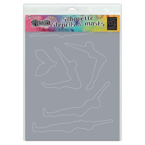 "Dylusions - Stencil Silhouette - 9x12"" Make a Splash"